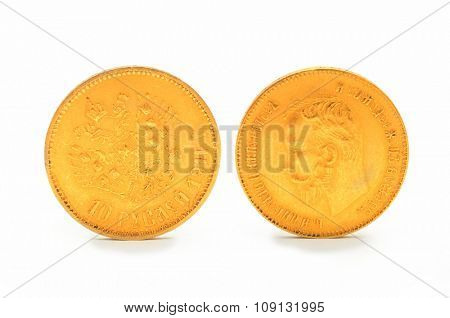 Gold Russian antique coin