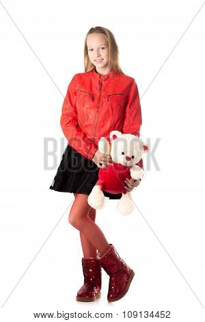 Girl With Stuffed Animal