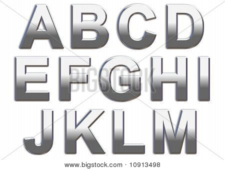Chrome Capital Letters A-M