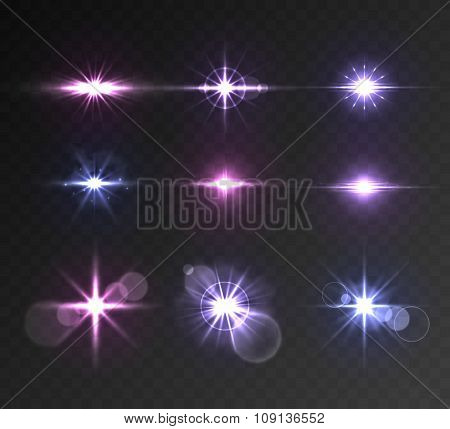 Lighting flare set