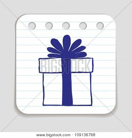 Doodle Gift Box icon
