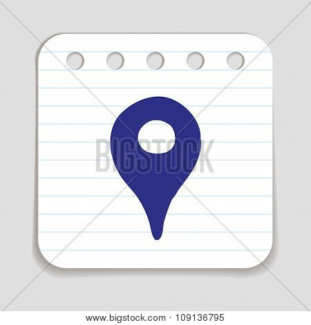 Doodle Location Pointer icon.