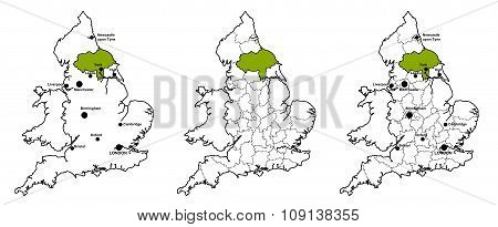 North Yorkshire located on map of England