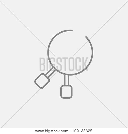 Dental pliers line icon for web, mobile and infographics. Vector dark grey icon isolated on light grey background.
