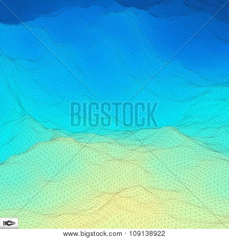 Abstract Geometric Background. Mosaic Vector Illustration. Design Template. Perspective Grid Texture.