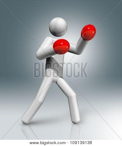 Boxing 3D Symbol, Olympic Sports