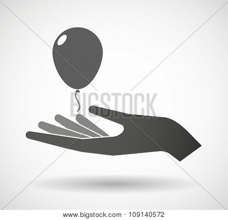 Isolated Vector Hand Giving A Folder