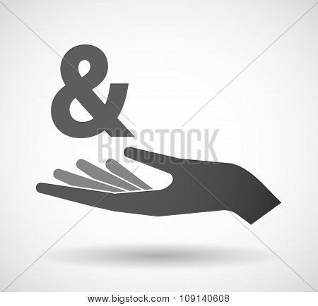 Isolated Vector Hand Giving An Ampersand