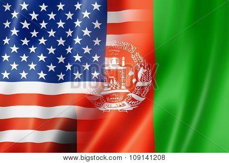 Usa And Afghanistan Flag