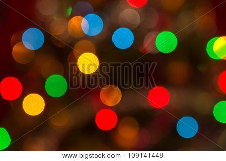 Highly Defocused Real Christmas Bokeh Background