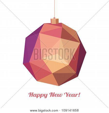 Geometric christmas ball. Holidays Background