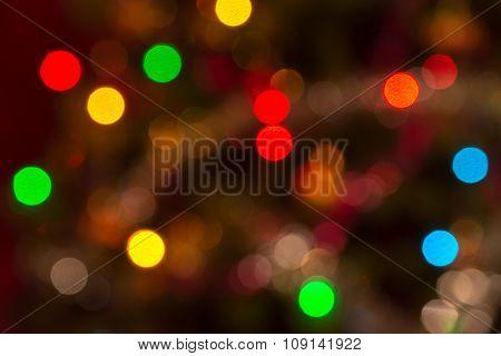 Very Defocused Real Christmas Bokeh Background
