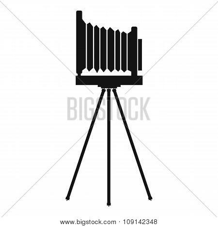 Retro camera simple icon