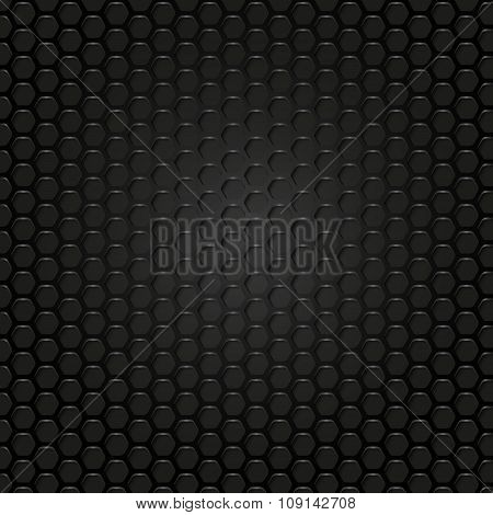 Vector Geometric Pattern Of Hexagons. Metal Background.