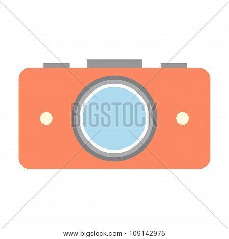Nice camera flat icon