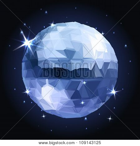 Geometric christmas ball. Holidays Background