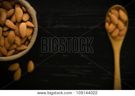 Almond Background / Almond / Almond On Wooden Background