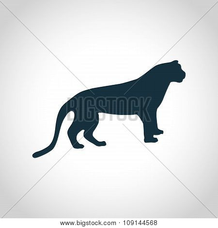 Tiger black silhouette