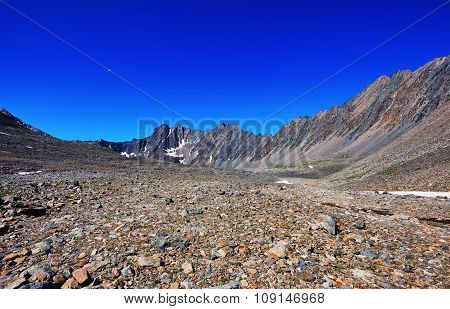 Stone Desert In The Mountains Of Eastern Siberia