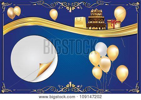 Celebration blue background
