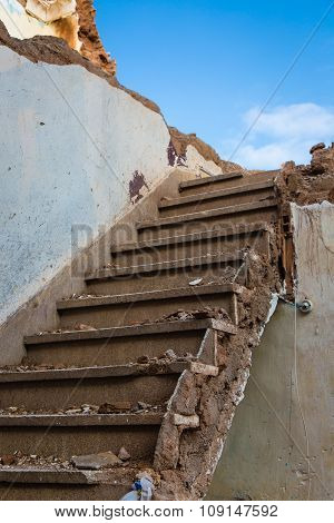 Demolished Stairs In Marrakech