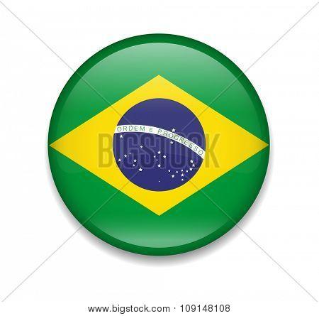 Brazil Button Flag
