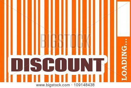 Discount word build in bar code