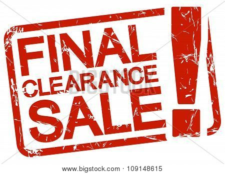 Red Stamp With Text Final Clearance Sale !