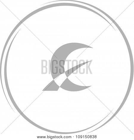 monetary sign. Internet button. Raster icon.