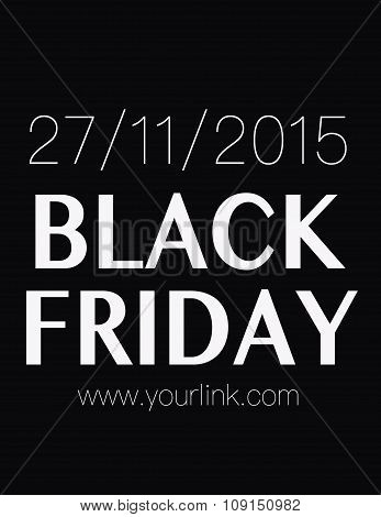 Black Friday Poster With Date 27Th Of November