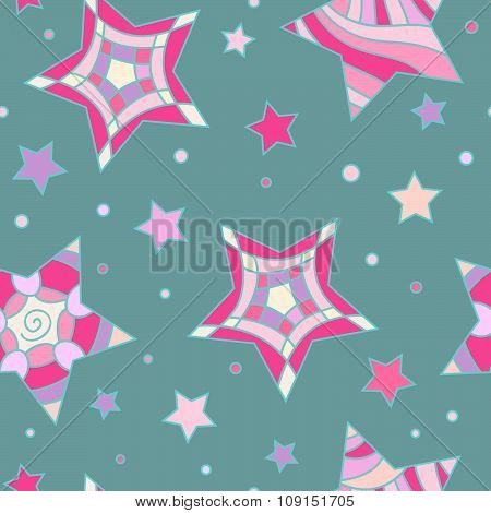 Colorful star and circle texture