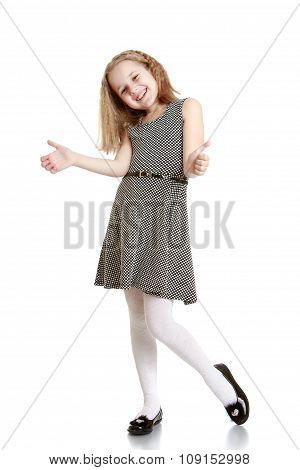 Stylish teenage girl