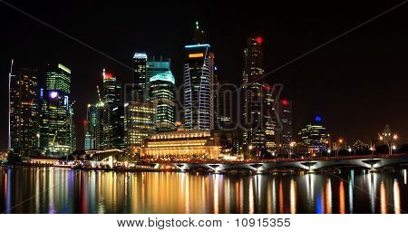 Panoramic View Of Cityscape Skyscraper In Singapore Business District