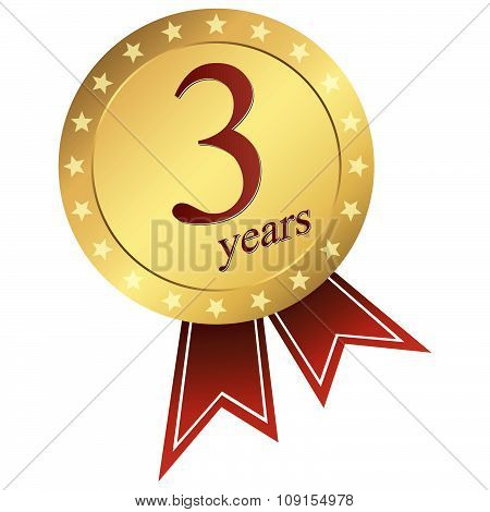 Gold Jubilee Button - 3 Years