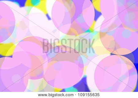 Abstract Background With Soft Colorful Circles