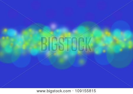 Abstract Blue Background With Colorful Yellow Circles