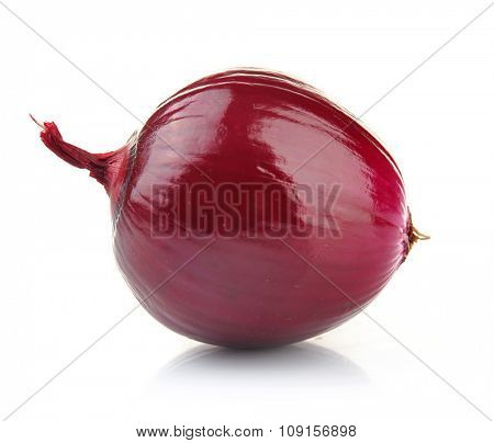 Red onion isolated on white