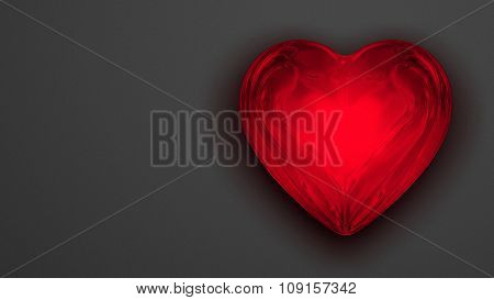 Red Shiny Heart Background