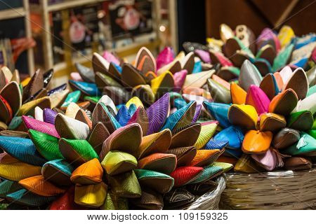 Brightly Colored Moroccan Shoes