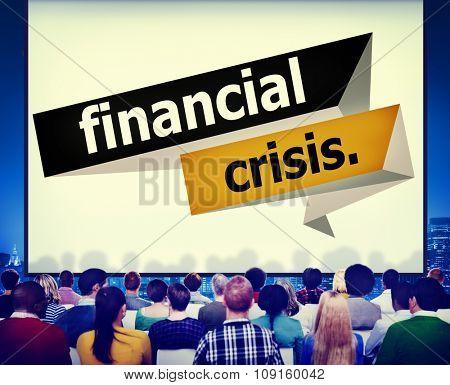 Financial Crisis Economics Financial Accounting Concept