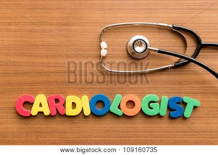 Cardiologist Colorful Word