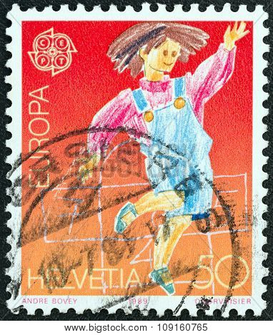 SWITZERLAND - CIRCA 1989: A stamp printed in Switzerland from the