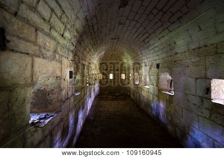 Thurmfort Gorazda fortress narrow dark bastion tunnel