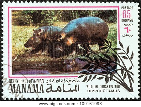 MANAMA DEPENDENCY - CIRCA 1971: A stamp printed in United Arab Emirates from the