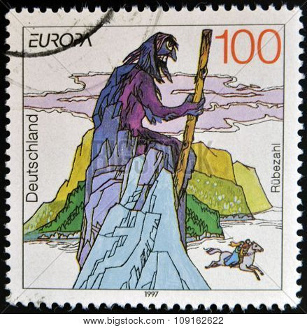 GERMANY - CIRCA 1997: A stamp printed in Germany shows Rubezahl circa 1997