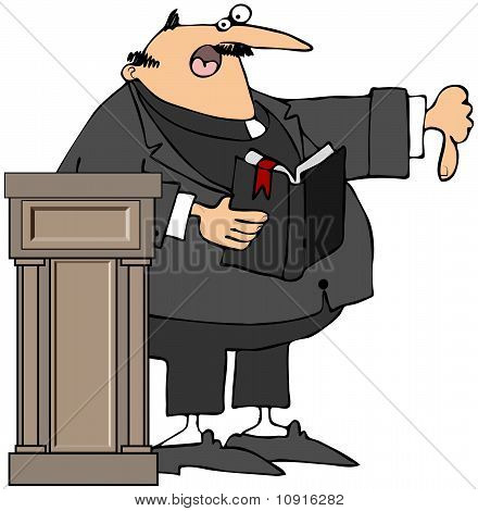 Preacher Giving The Thumbs-Down