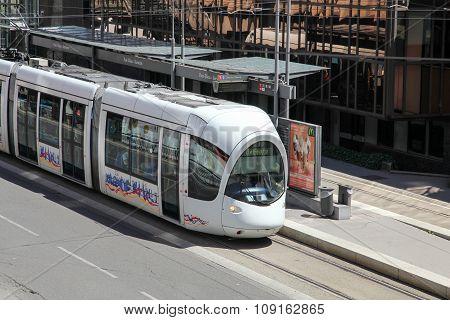 Tramway in Lyon, France