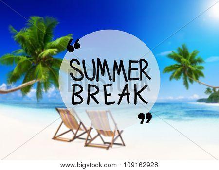 Summer Break Beach Friendship Holiday Vacation Concept