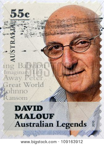 AUSTRALIA - CIRCA 2010: A stamp printed in australia shows David Malouf