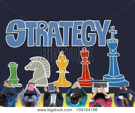 Strategy Planning Tactics Analysis Communication Concept